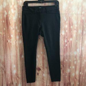Loft Gray Ponte Knit Button Front Pant Leggings